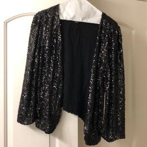 INC brand black sequin cardigan
